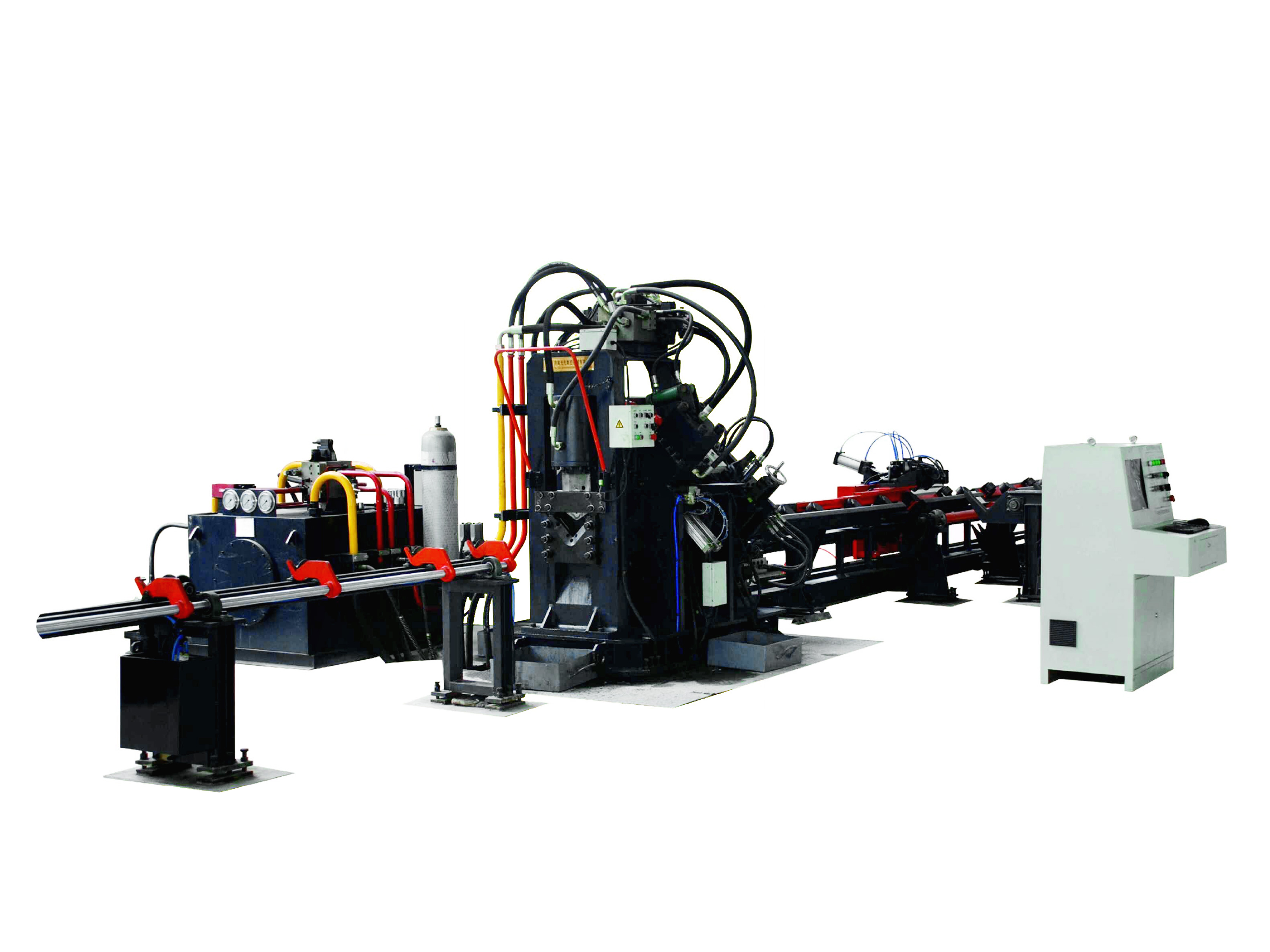 JNC125 series CNC angle steel punching and cutting production line